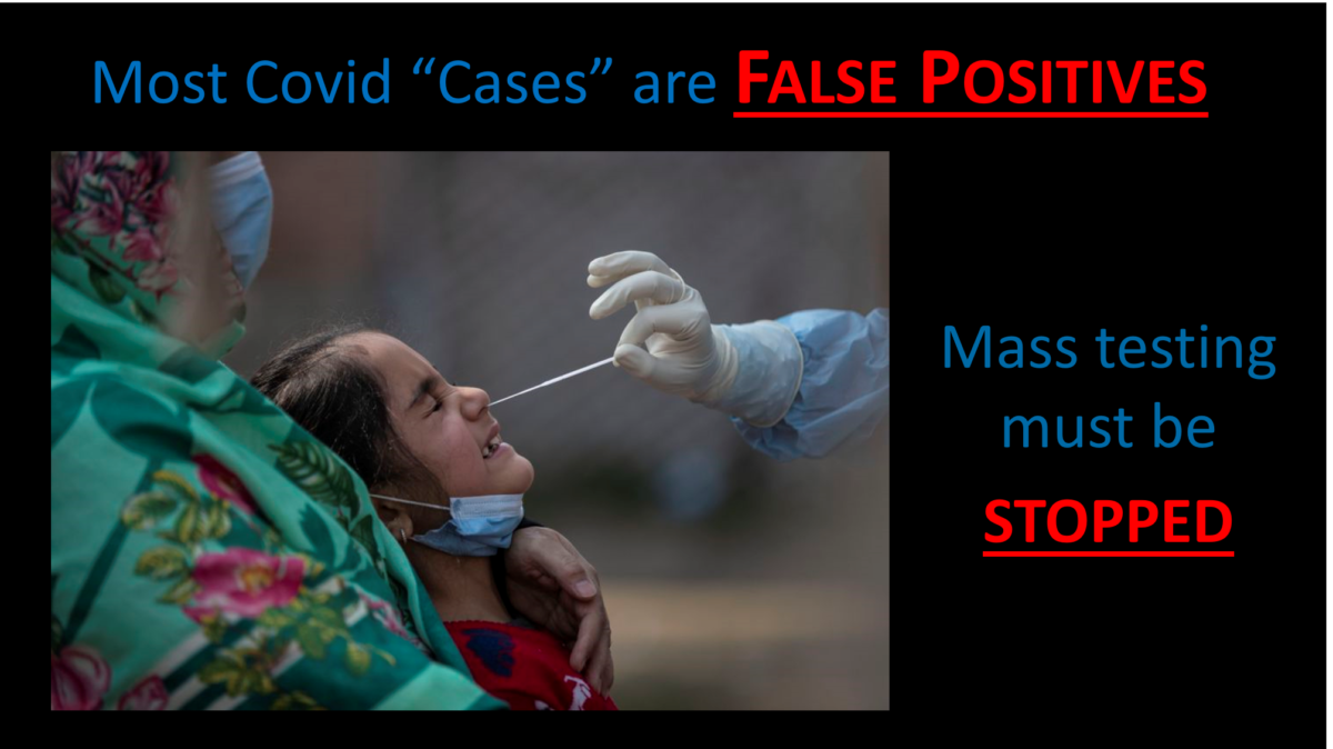 Most Covid Cases Are False Positives