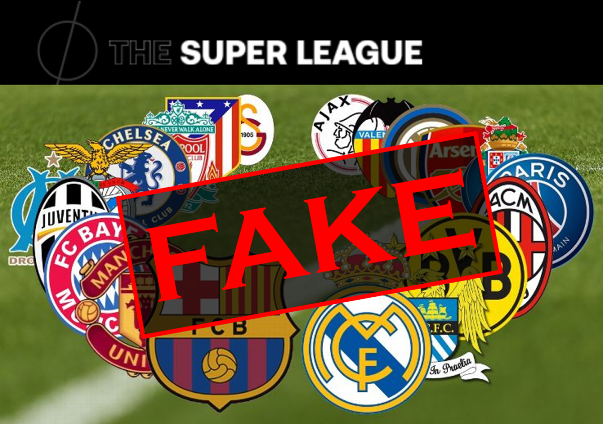 The European Super League proposal was a staged event